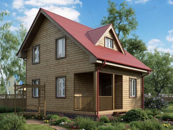 Дом из клееного бруса Валдай-2