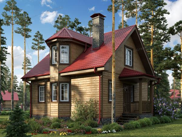 Дом из профилированного бруса Эдельвейс