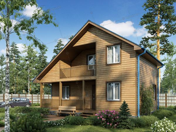 Дом из профилированного бруса Валдай-3