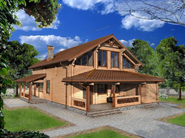 Дом из профилированного бруса Домьен