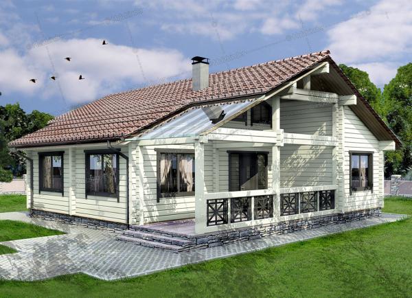 Дом из профилированного бруса Фортис