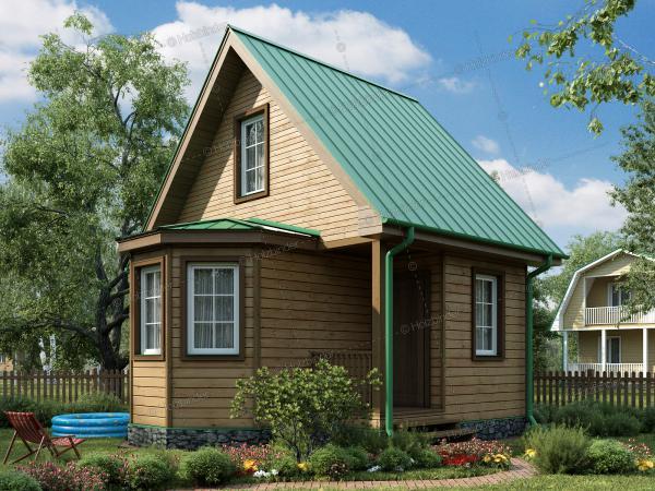 Дом из профилированного бруса Колибри