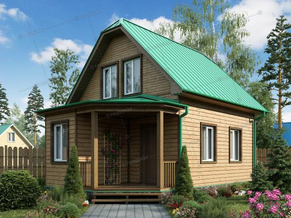 Дом из профилированного бруса Ладога-2