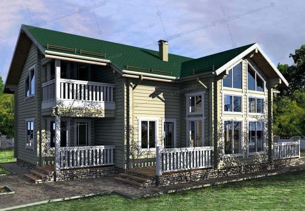 Дом из профилированного бруса Монпелье