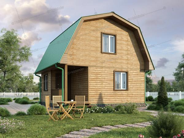 Дом из профилированного бруса Озерный
