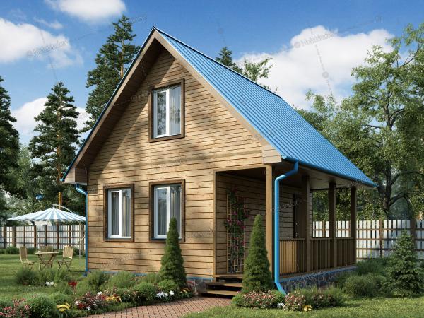 Дом из клееного бруса Лесной