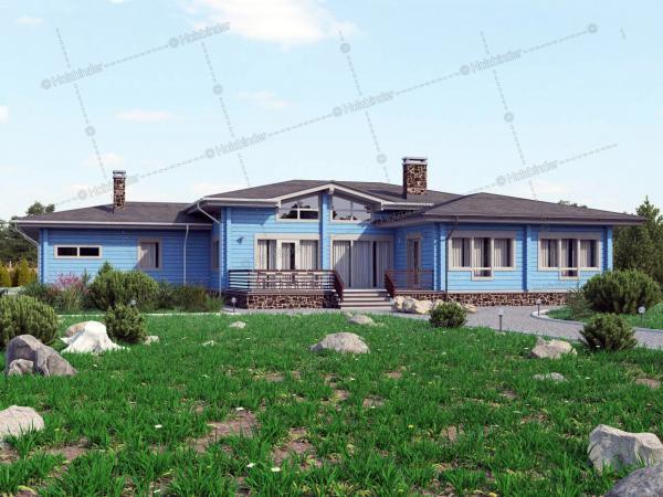 Дом из клееного бруса Шато Соверен-2