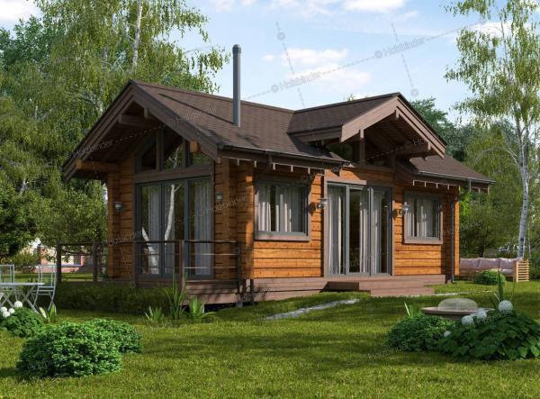 Дом из клееного бруса Скандик