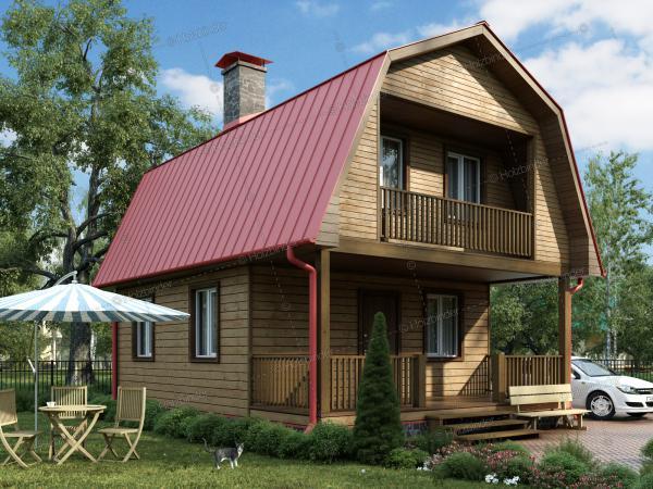 Дом из профилированного бруса Мечта-2