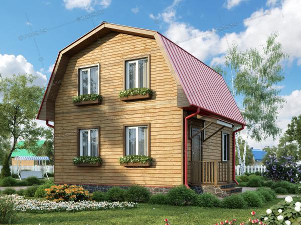 Дом из профилированного бруса Простоквашино
