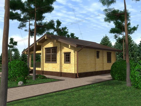 Дом из клееного бруса Былина