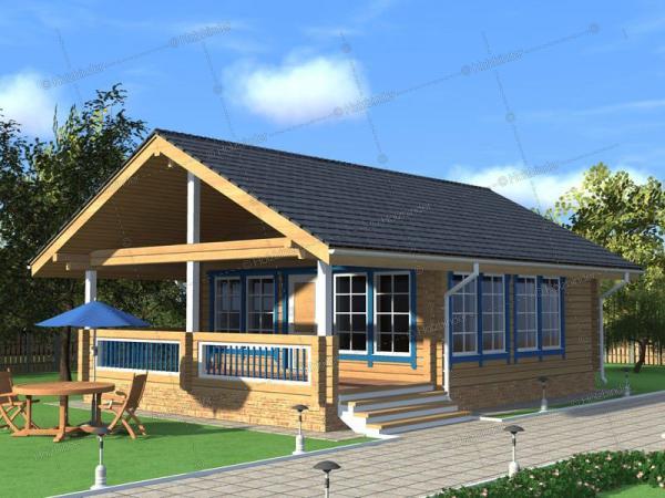 Дом из клееного бруса Залесье