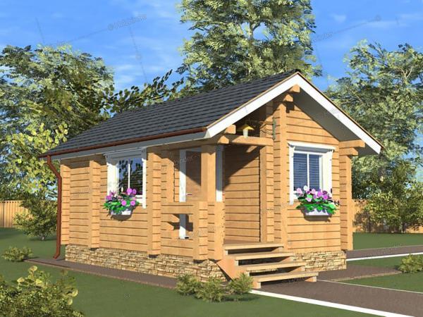 Дом из профилированного бруса Крепыш-3