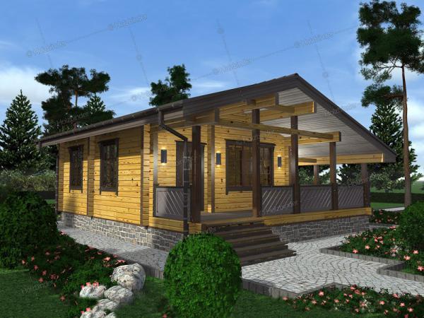 Дом из профилированного бруса Залесье