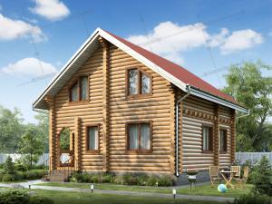 Дом из бревна Семигорье 8,0х8,0м