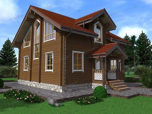 Дом из клееного бруса Авангард