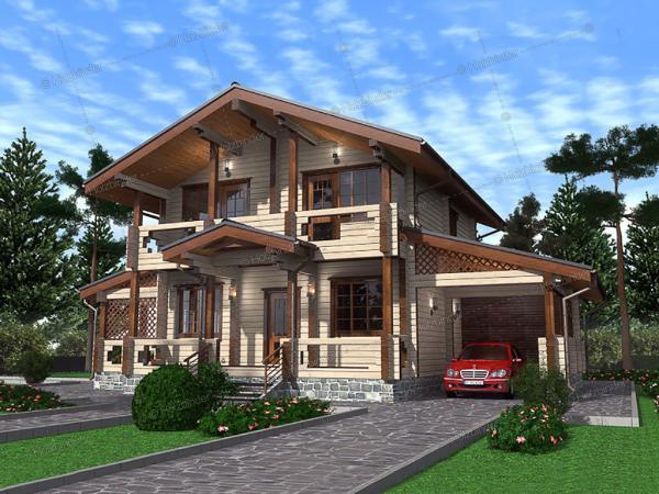 Дом из клееного бруса Гермес