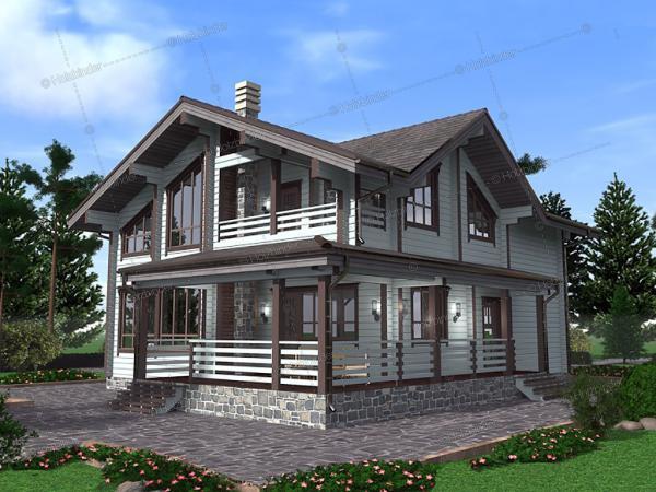 Дом из клееного бруса Ричмонд-2