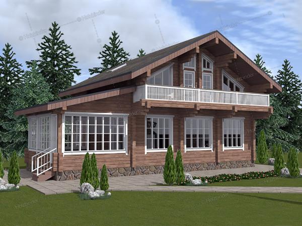 Дом из профилированного бруса Довиль
