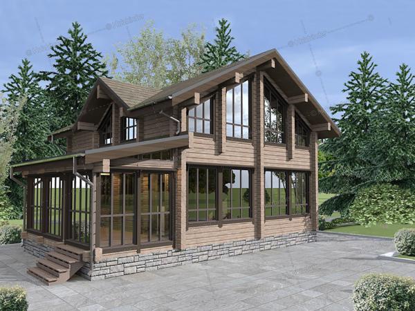 Дом из профилированного бруса Гринфилд