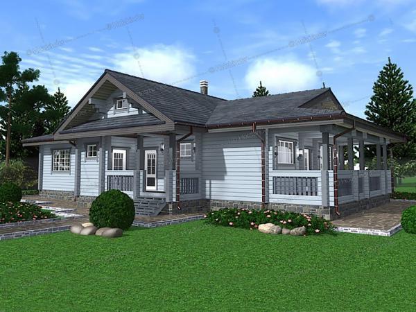 Дом из профилированного бруса Madison House