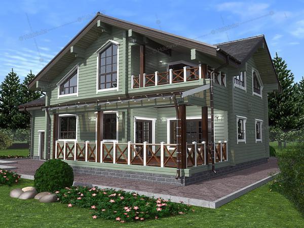 Дом из профилированного бруса Ришелье