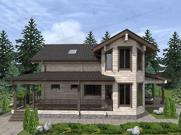 Дом из профилированного бруса Солерно