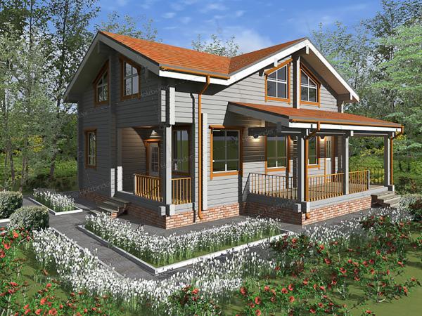 Дом из профилированного бруса Вербена