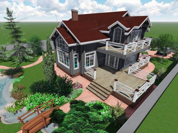 Дом из клееного бруса Династия