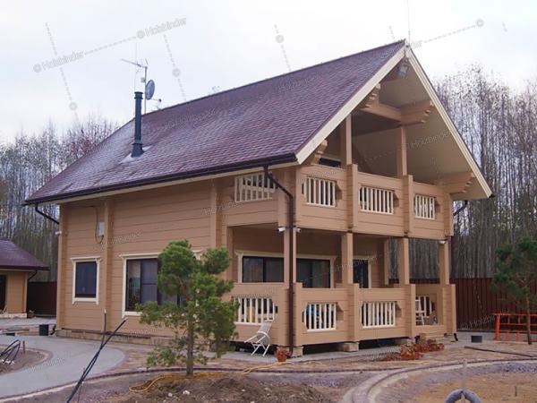 Дом из клееного бруса Лесное Шале