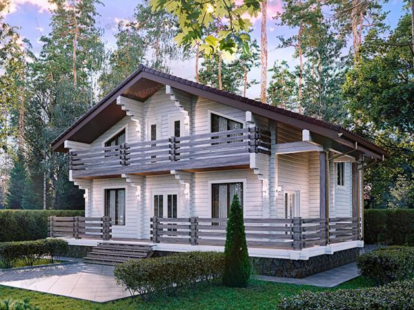 Дом из клееного бруса Лесная Усадьба