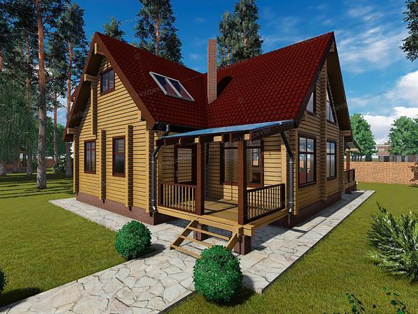 Дом из клееного бруса Сибирская Охота