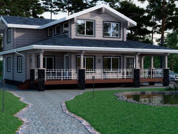 Дом из профилированного бруса Азимут