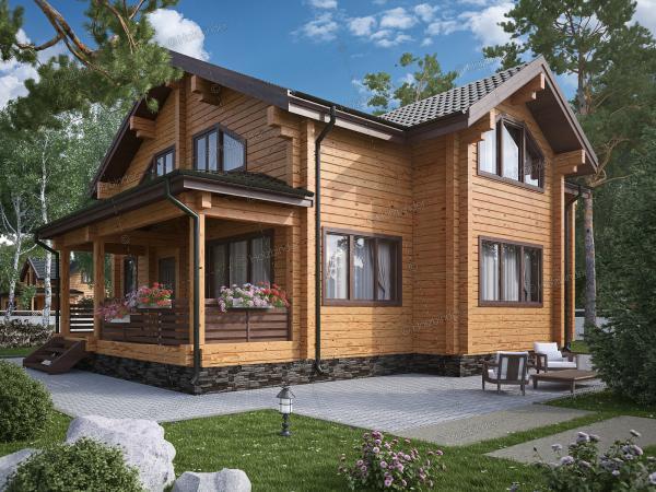 Дом из профилированного бруса Байкал