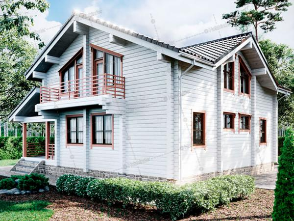 Дом из профилированного бруса Борки