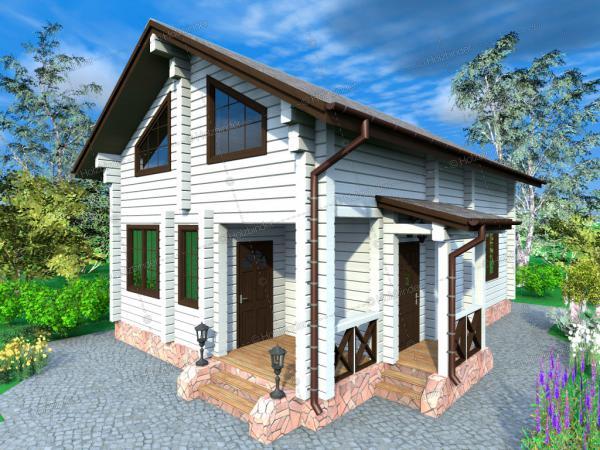 Дом из профилированного бруса Ларкс