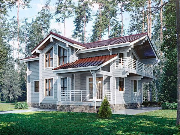 Дом из профилированного бруса Рапсодия