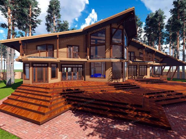 Дом из профилированного бруса Сапсан