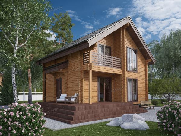 Дом из профилированного бруса Золотой Бор