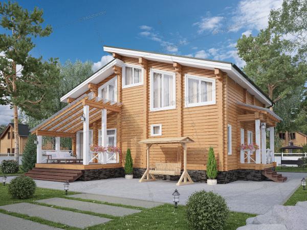 Дом из клееного бруса Финская Сказка