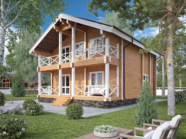 Дом из клееного бруса Истринская Долина