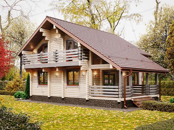 Дом из клееного бруса Карелия