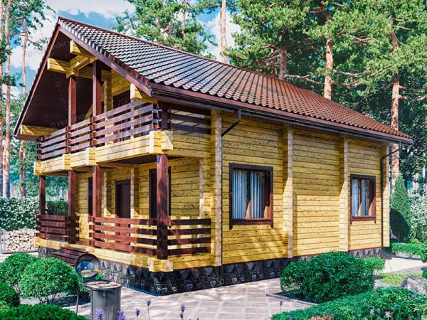 Дом из клееного бруса Лесная Усадьба-2