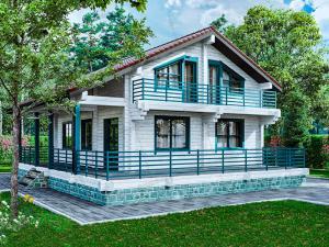 Дом из клееного бруса Либери