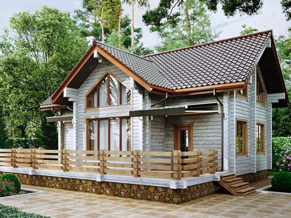 Дом из клееного бруса Саяны-2