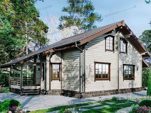 Дом из клееного бруса Волга-Волга