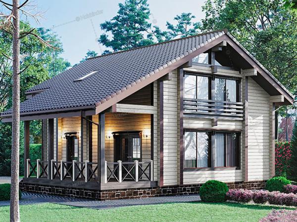 Дом из профилированного бруса Альпенхоф