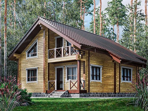 Дом из профилированного бруса Гончаров