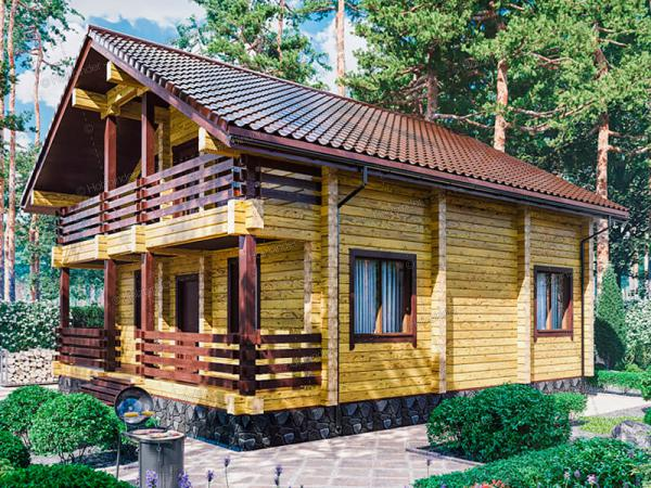 Дом из профилированного бруса Лесная Усадьба-2