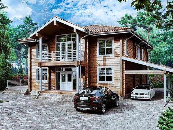 Дом из профилированного бруса Монплезир